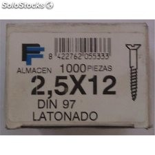 Tornillo r/Mad. 17X025Mm Cinc Fer 1.000 Pz