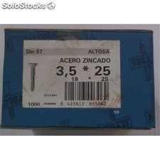 Tornillo R/Mad. 97 19X025Mm Cinc Altosa 1.000 Pz