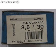 Tornillo R/Mad. 97 19X030Mm Cinc Altosa 500 Pz