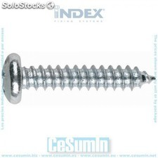 Tornillo rosca chapa DIN 7981 phillips zincado 4.8 x 22 - INDEX - Ref