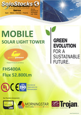 Torre solar de iluminacion / solar lighting tower FHS400A