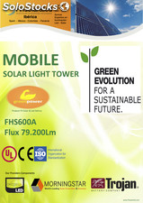 Torre solar de iluminacion / solar lighting tower FHS600A