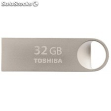 Toshiba - TransMemory Mini-Metal 32GB 32GB USB 2.0 Capacity Plata unidad flash