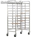 Toughened tray rack trolley - mod. ca147r - stainless steel structure -