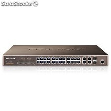 Tp-link - 24-Port 10/100Mbps + 4-Port Gigabit L2 Fully Managed Switch