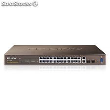 TP-LINK - 24-Port 10/100Mbps + 4-Port Gigabit L2 Managed Switch Gestionado