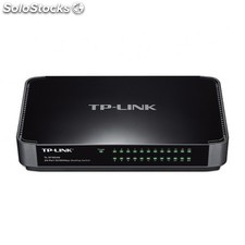 TP-LINK - TL-SF1024M Unmanaged network switch Fast Ethernet (10/100) Negro