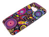 TPU preto Case for HTC One rosas desenhos M9
