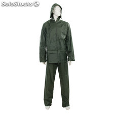 Traje impermeable color verde, 2 pzas, Talla XL (76 - 134 cm)