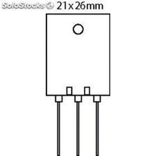 Transistor Si-n 1500 Vdc 15 A 180w 0.3us