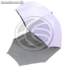 Translucent white diffuser umbrellas with black base of 104 cm (EH12)