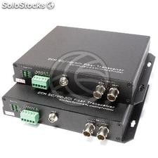 Transmitter 2 channel sd-sdi hd-sdi fiber optic RS485 40km fc SMPTE292M