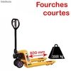 Transpalette fourches courtes 800mm 2000kg