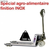 Transpalette inox charge 2000kg