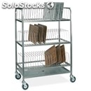 Tray drainer - mod. 2264 - tubular stainless steel structure - stainless steel