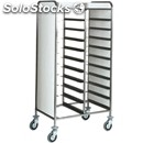 Tray rack trolley - mod. ca146 - stainless steel structure - stainless steel