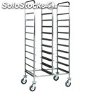 Tray rack trolley - mod. ca1460 - stainless steel structure - stainless steel