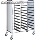 Tray rack trolley - mod. ca147 - stainless steel structure - stainless steel