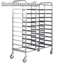 Tray rack trolley - mod. ca1470 - stainless steel structure - stainless steel