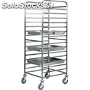 Tray rack trolley - mod. ca1476 - stainless steel structure - stainless steel