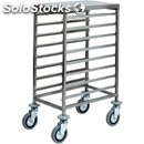 Tray rack trolley - mod. ca1478 - stainless steel structure - stainless steel