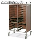 Tray trolley - mod. gn/en - square tubular stainless steel structure cm. 2x2 -