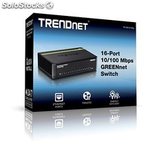 Trendnet - TE100-S16Dg Unmanaged network switch L2 Fast Ethernet (10/100) Negro