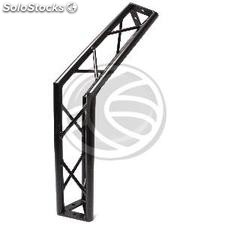 Triangular truss 150mm black aluminum 135-degree angle (XT54)