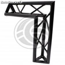 Triangular truss 150mm black aluminum 90-degree angle type-1 (XT13-0002)