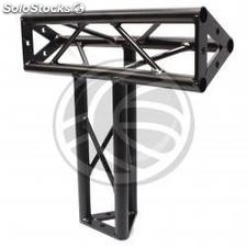 Triangular truss 150mm black aluminum triple connection T4 (XT19-0002)