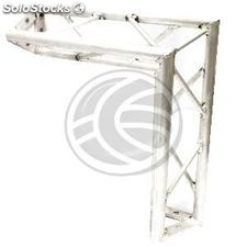 Triangular Truss 150mm silver aluminum 90-degree angle type-3 (XT05-0002)