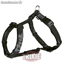 Trixie Arnés King Dogs Elegance,XS-S,30-40 cm,10mm, Negro