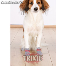 Trixie Calcetines Perro, Antideslizante, S-M, 2 uds, Gris