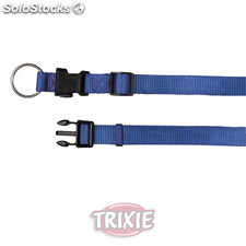 Trixie Collar Premium, M-L, 35-55 cm,20 mm, Azul