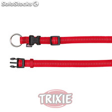 Trixie Collar Soft. Eleg., XS-S,25-35cm,15mm, Rojo/Beige