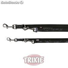 Trixie Ramal King of Dogs Elegance,L-XL,2.00m,25mm, Negro