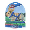 Trixie Set roedores con correa, nylon, color Azul