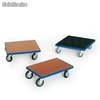 Trolley 250 kg, 700 x 700 mm preto