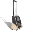 Trolley-mochila plegable para mascotas, color beige