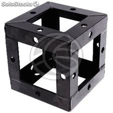 Truss 150mm square aluminum black cube union (XT39)