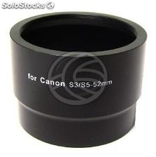 Tube lens adapter Canon PowerShot S3 to S5 52mm (ED62)