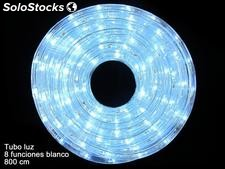 Tubo luces LED 8 funciones blanco 800x1x1cm