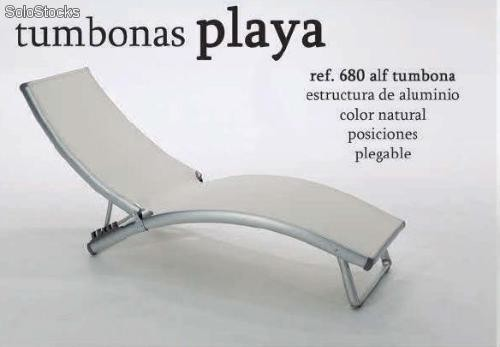 Tumbona plegable para playa y jard n dise o moderno muy for Tumbona plegable playa
