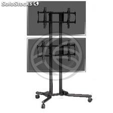 """TV stand for 2 screens vertically 32 \""""- 56\"""" VESA 600x400 mm (OH51)"""