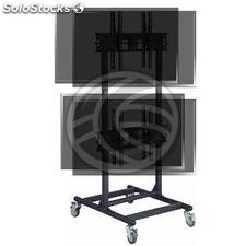 "TV stand for 2x2 vertical screens 32 ""- 56\"" dual VESA 600x400 mm (OH53)"