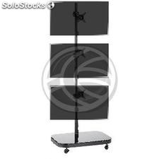TV stand VESA 50 75 100 for 3 screens vertically (OH41)