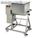 Twin paddle meat mixer on trolley - mod. f100/2p - capacity: 100 kg - power 1.8