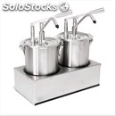 Twin sauce dispenser - mod. dis a2 - stainless steel aisi 304 - suitable for