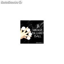 Two inch mirage billiard balls by jl (white, 3 balls and shell)