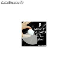 Two inch mirage billiard balls by jl (white, shell only)